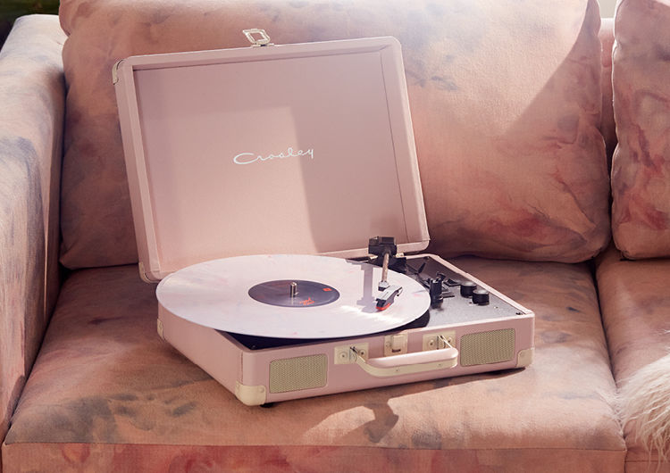 Crosley UO Exclusive Tan Velvet Cruiser Bluetooth Record Player