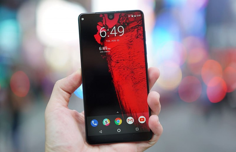Essential Phone in Halo Gray, 128 GB Unlocked Titanium and Ceramic phone with Edge-to-Edge Display
