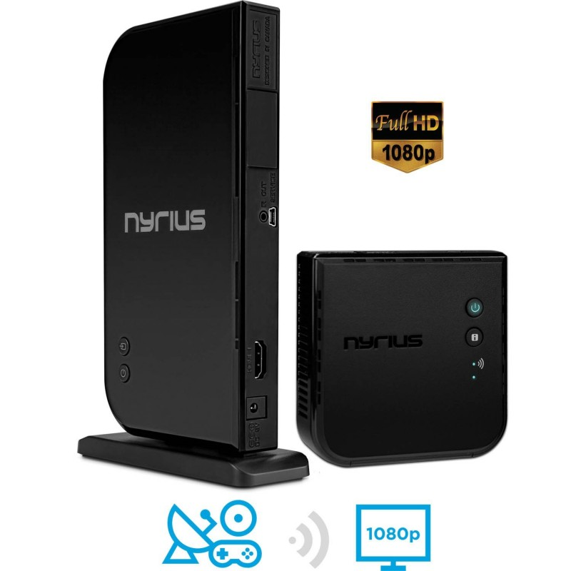 Nyrius ARIES Home HDMI Digital Wireless Transmitter & Receiver HD 1080p Video Streaming, Cable box, Satellite, Bluray, DVD, PS3, PS4, Xbox 360, Xbox One, Laptops, PC (NAVS500)