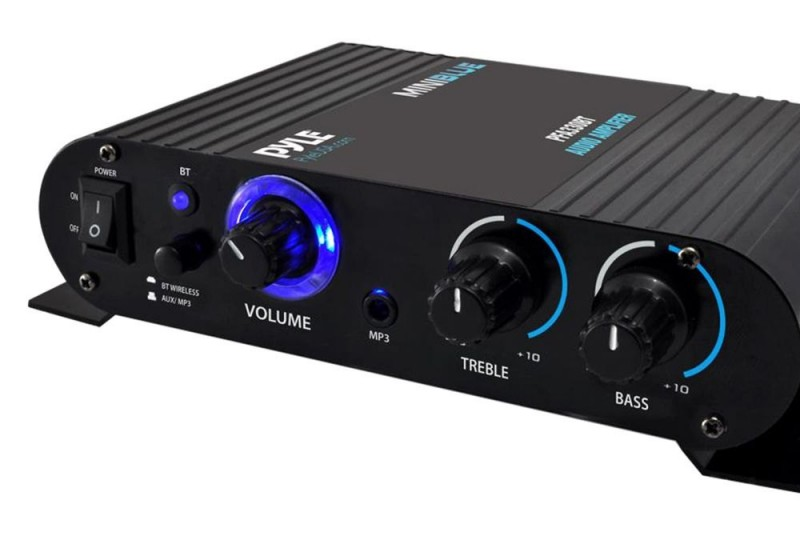 Pyle Wireless Bluetooth Home Audio Amplifier - 90W Dual Channel Mini Portable Power Stereo Sound Receiver
