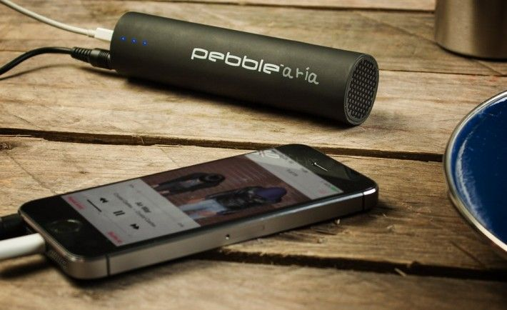 Pebble Aria Portable Charger & Speaker