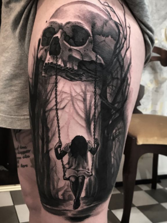 Swinging From Death Tattoo