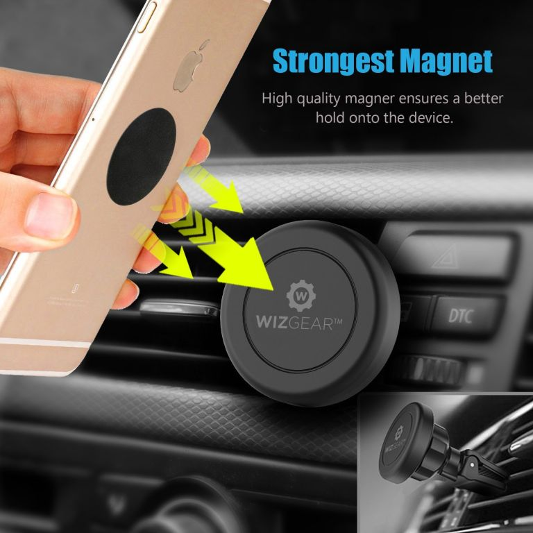WizGear Universal Air Vent Magnetic Car Mount Phone Holder